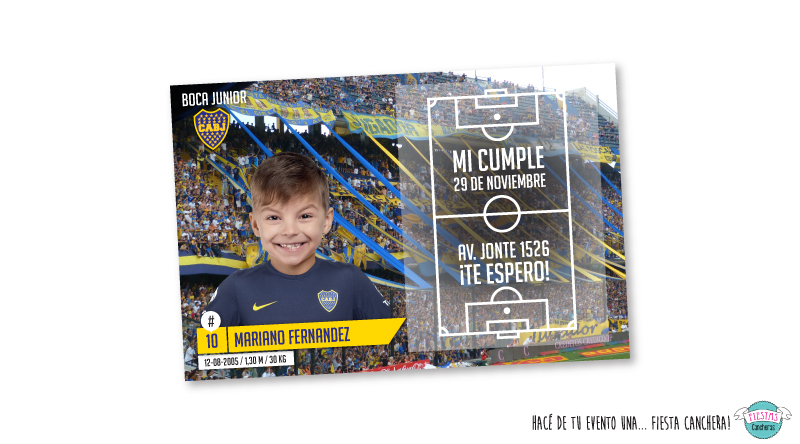 invitaciones Boca Juniors