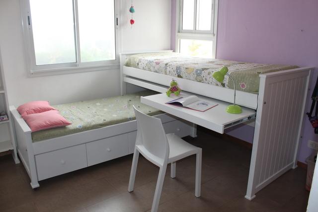 Cama nido camila con 2 escritorios y cajonera - Cama nido con escritorio ...
