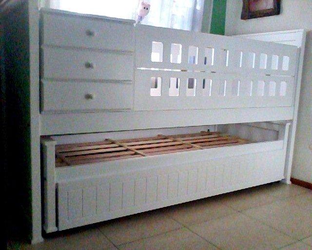 Cuna clarita con cama nido abajo for Cama con cama abajo