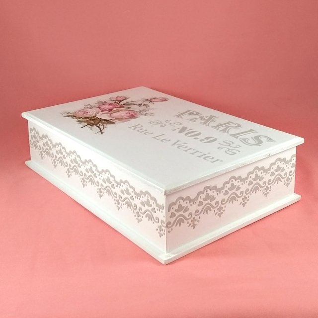 Caja Rectangular Grande NANCY - Shabby Silvia Deco