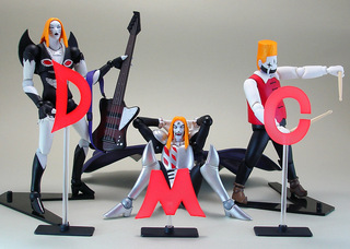 Detroit Metal City - Set com 3 figuras Revoltech - No. 055 (Kaiyodo)