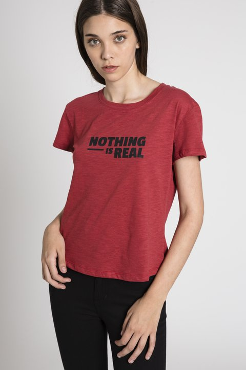 Remera Nothing Gal Bordeaux - comprar online