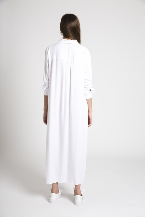 Maxi Camisa Helena Off White - comprar online
