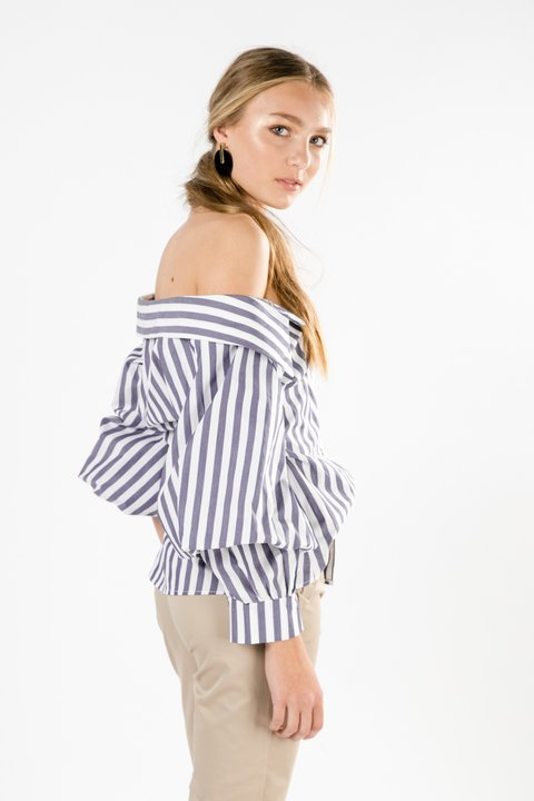 CAMISA OFF SHOULDER MARGO RAYAS - Becci
