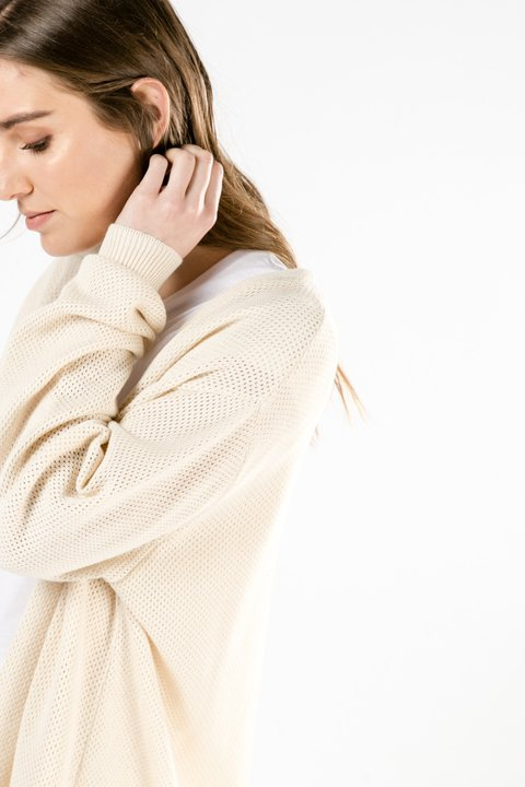 CARDIGAN OLIVE OFF WHITE - Becci
