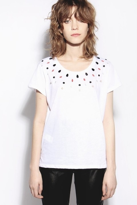 MIX Remera Sally Blanco + Top Triángulo Negro - comprar online