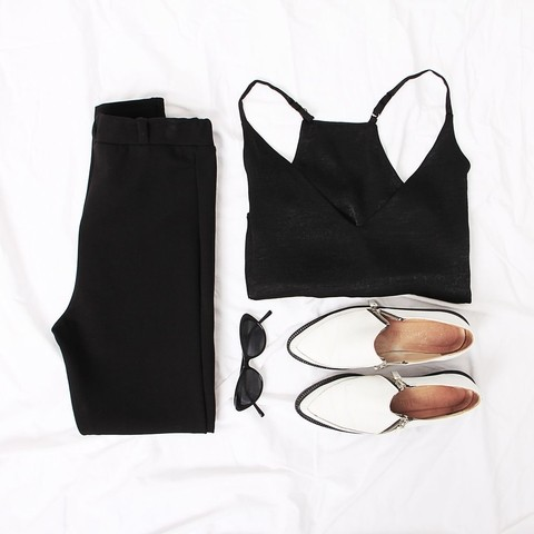 MIX Legging Yoko + Top Eva Negro
