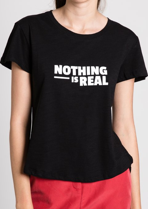 Remeras Nothing Gal Negro