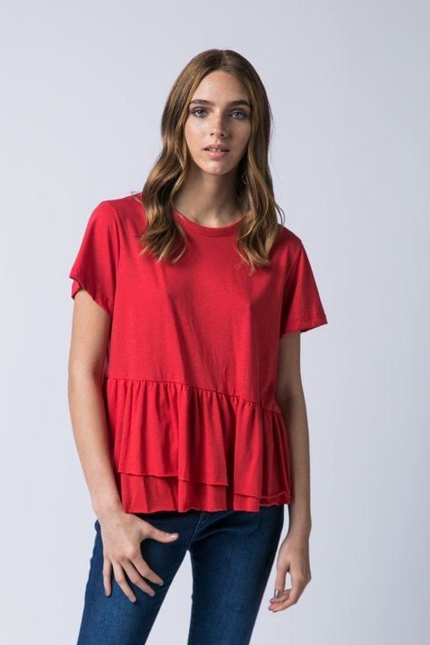 REMERA MADISON VOLADOS ROJO