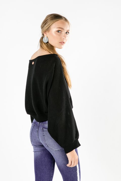 SWEATER OLIVE NEGRO - Becci