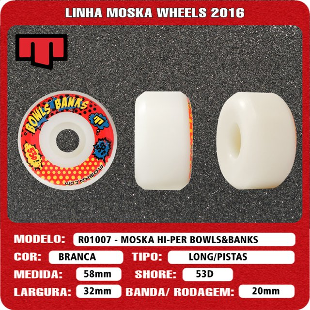 Roda Moska Bowl 58mm na internet