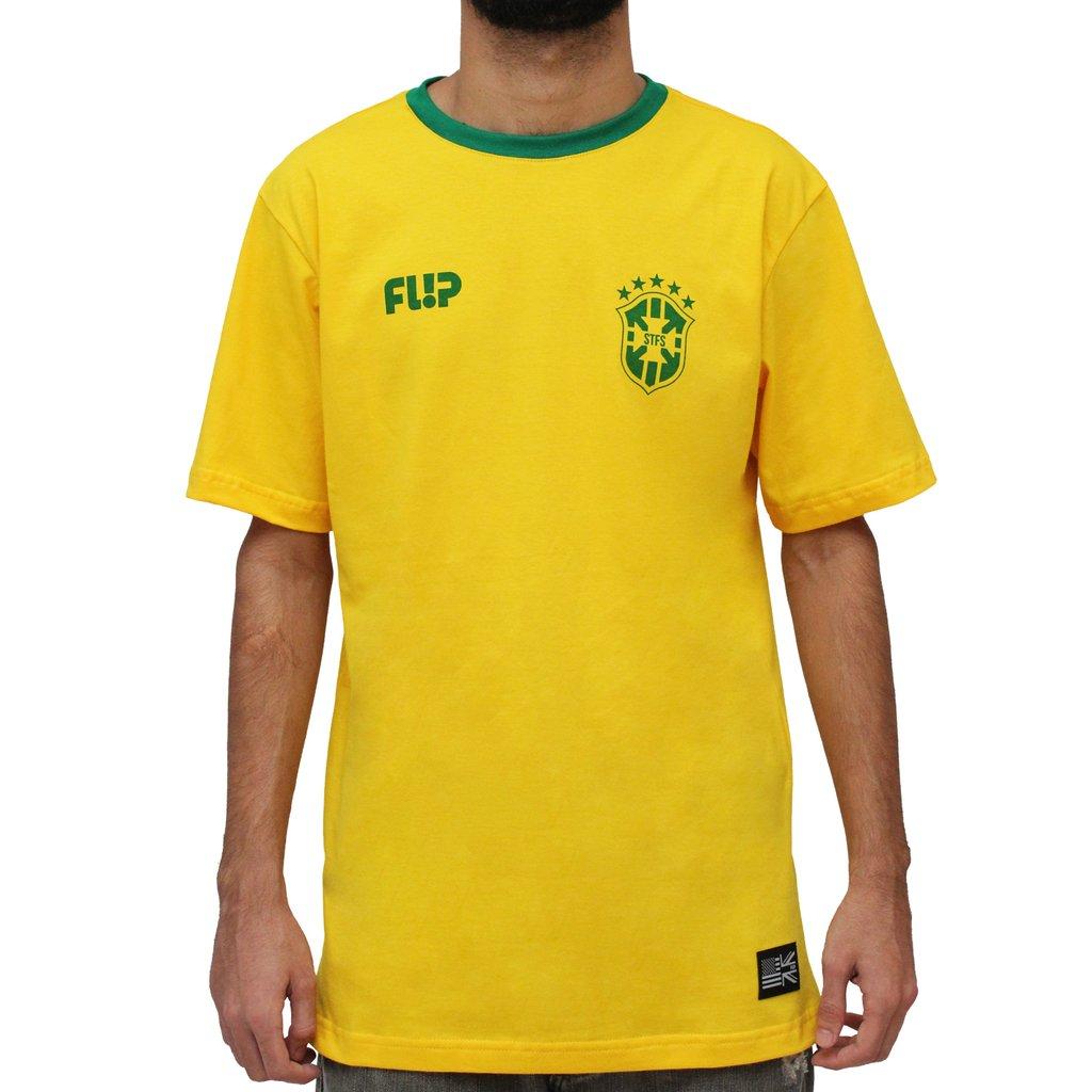 3f75eebaf camiseta flip skate brasil