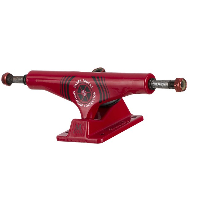 Truck Silver Spectrum Red Hollow 139mm - CB SKATE SHOP