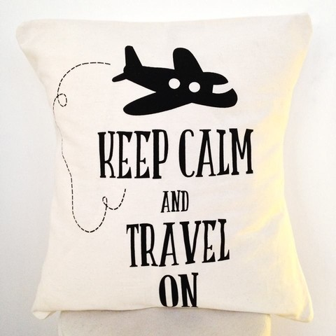 Almohadones 50 x 50 cm - Keep Calm and Travel On - comprar online