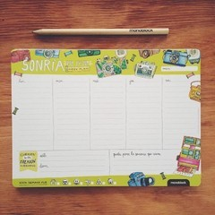 Planner-Mouse Pad Semanal - Sonría
