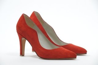 STILETTO GAMUZA ROJO 41 - Camelia Shoes