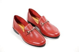 ZAPATO NEW FLORENCE ENTERO ROJO - Camelia Shoes