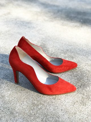 STILETTO GAMUZA ROJO 41 en internet