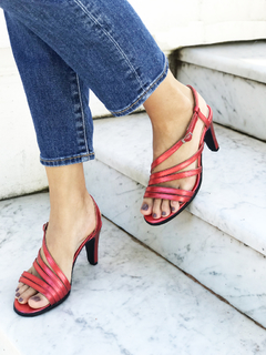 SANDALIA COCKTAIL ROJO 40 - Camelia Shoes