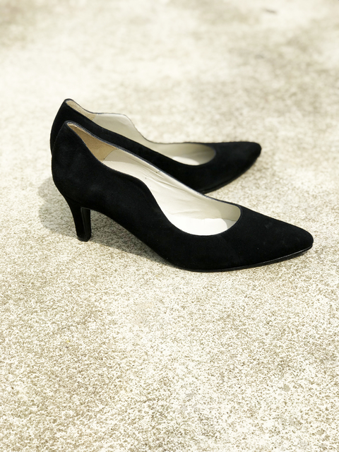 STILETTO GAMUZA NEGRO 36