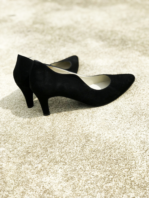 STILETTO GAMUZA NEGRO 39