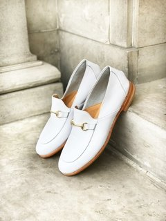 ZAPATO FLORENCE ENTERO BLANCO - Camelia Shoes