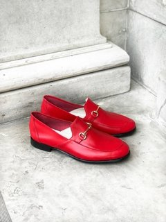 ZAPATO FLORENCE ENTERO ROJO - Camelia Shoes