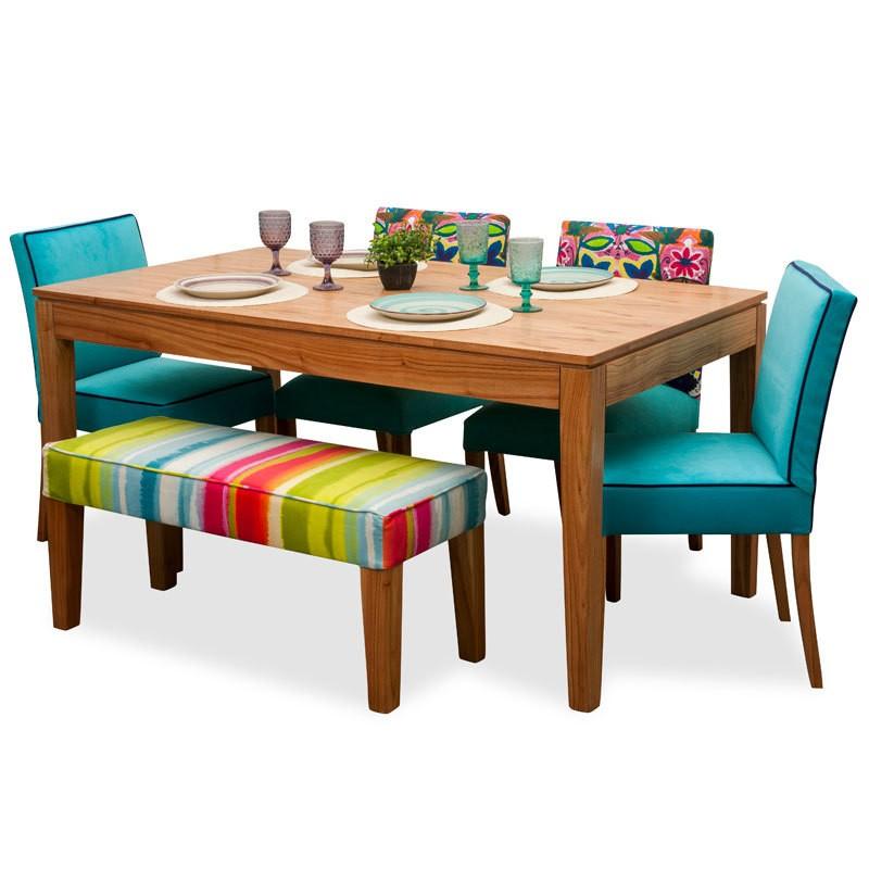 Juego de comedor p 6 personas mesa en para so 4 sillas for Mesa de comedor 6 sillas