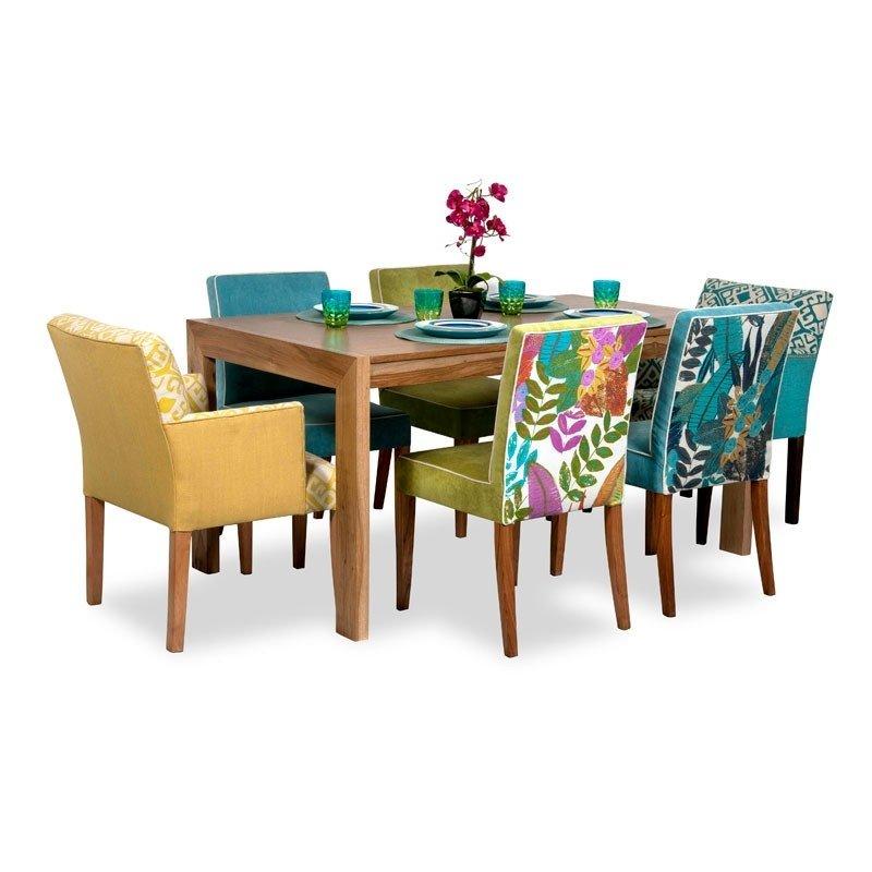 Juego de comedor p 6 personas mesa en para so 4 sillas for Sillones para mesa comedor
