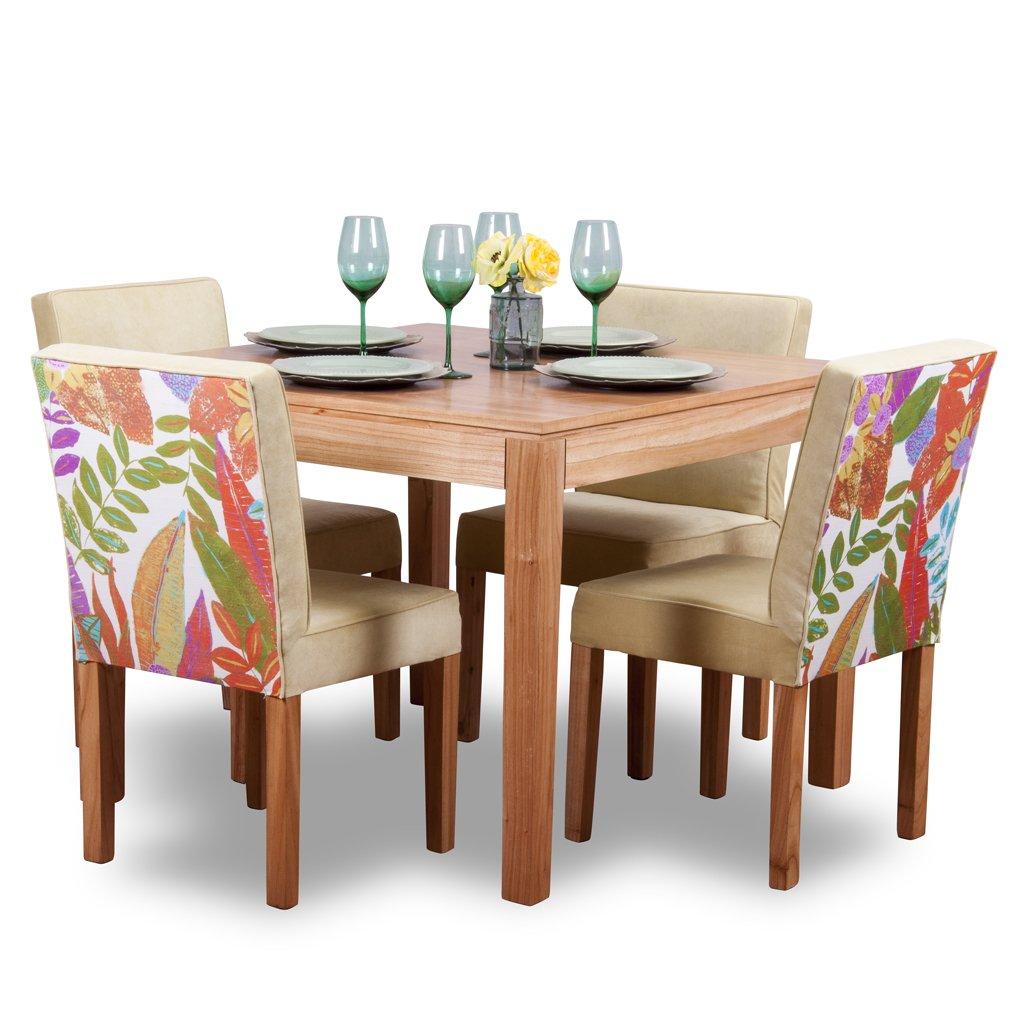 Mesa de comedor 4 personas Juego de comedor 4 sillas moderno
