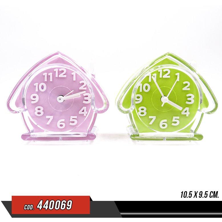 Reloj despertador Acrilico - forma de casa- Venta por unidad - 440069