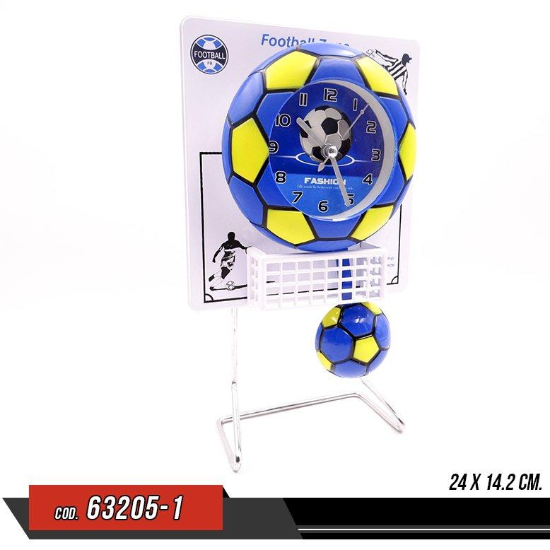 Reloj de pendulo en forma de Balon de Futbol - Venta por unidad - 63205-1