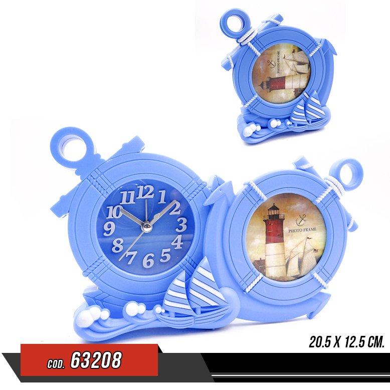 Reloj forma de ancla con portafoto - Venta por unidad - 63208