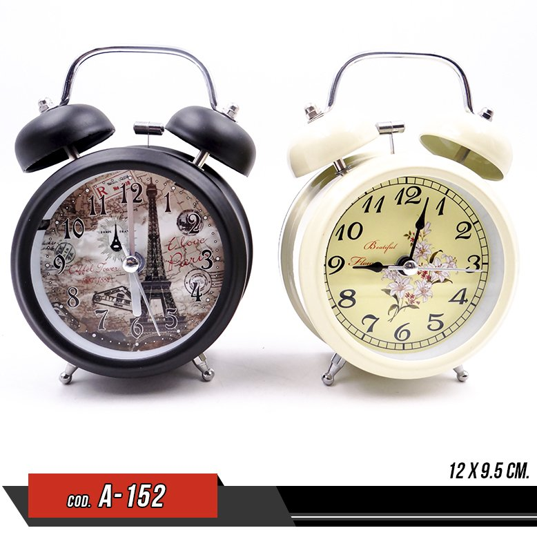 Reloj despertador vintage - Venta por unidad - A-152
