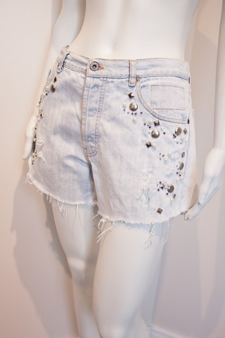 Shorts Jeans Bordado [M]