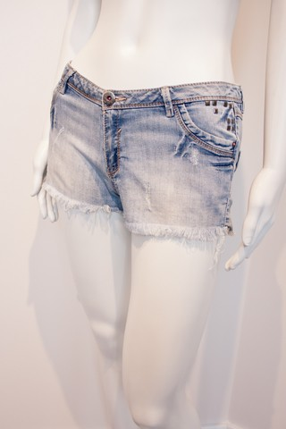 Shorts Jeans Tachinhas [P]
