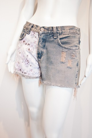 Shorts Aplique Floral [P]
