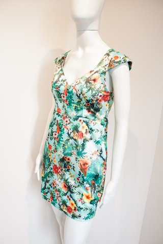 VESTIDO ESTAMPA TROPICAL [M]