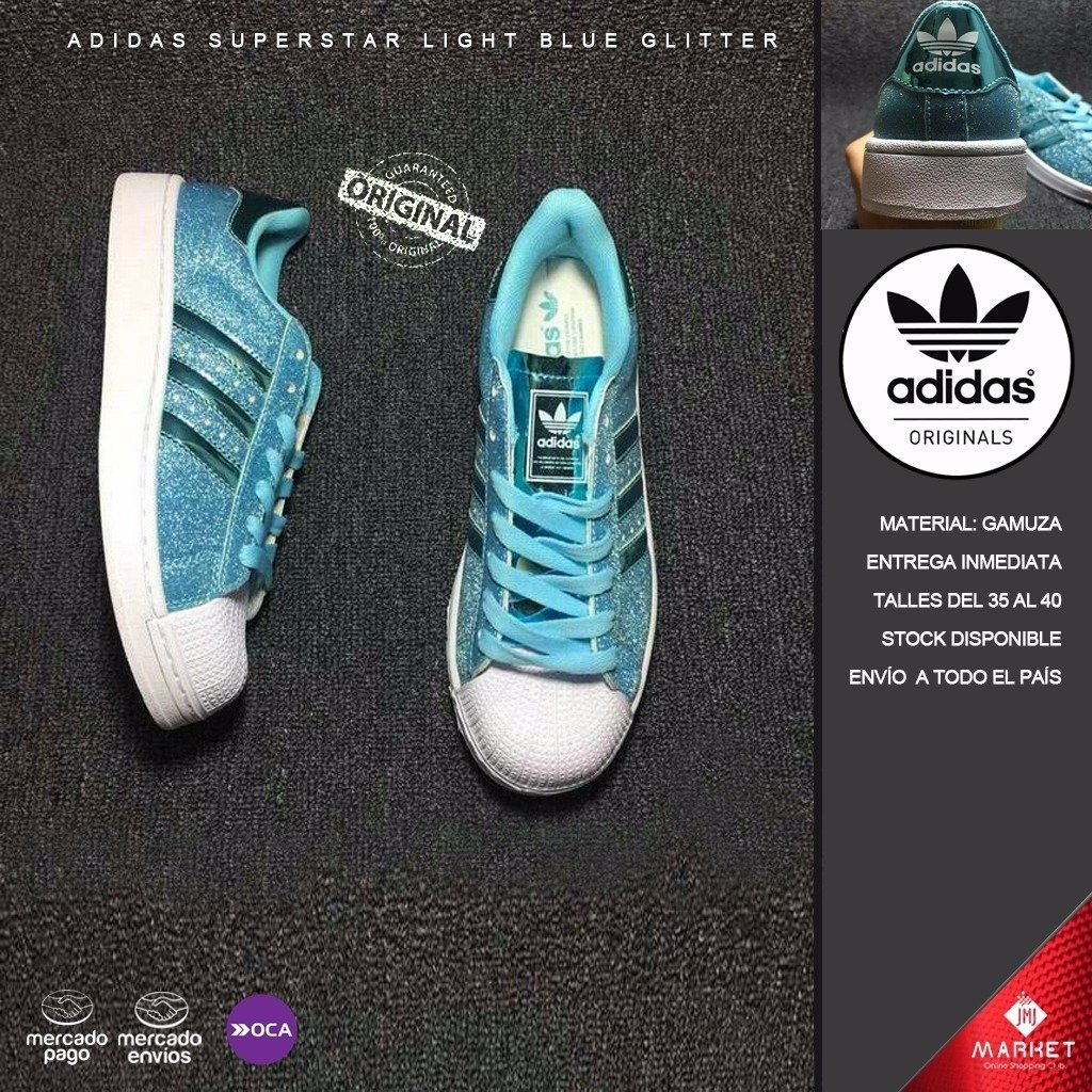 adidas superstar blue glitter