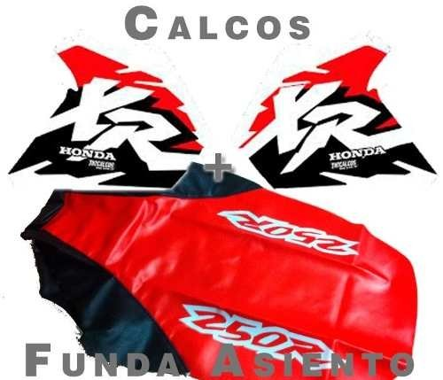 495434291cd Kit De Calcos + Funda Asiento Honda Xr250 Xr 250, Gloss