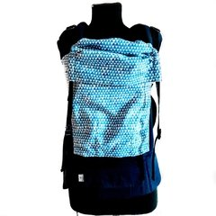 Mochila Ergonomica - Small Blue Triangles