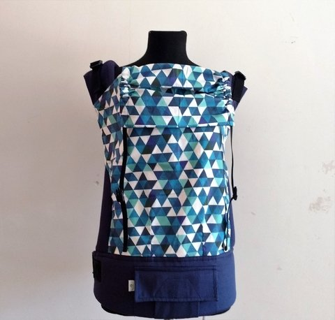 Mochila Ergonómica - TODDLER Indigo triangles