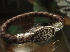 Pulsera HD cuero tubular chocolate en internet