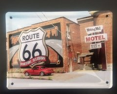 Cartel de Chapa Route 66 Chico