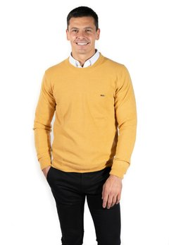 Sweater Base Liso Hernando Mostaza