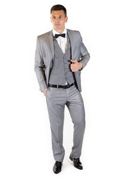 Ambo Slim Fit Gris Medio