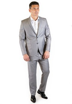 Ambo Slim Fit Gris Medio - Pato Pampa