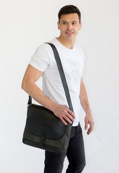 Morral Negro Cuero y Canvas en internet