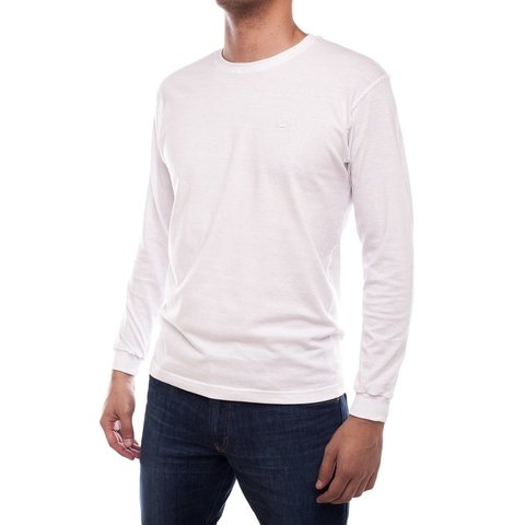 Remera Jersey Lisa Blanca Cuello Base (ML)