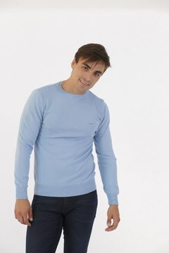 Sweater Algodon Viscosa Celeste